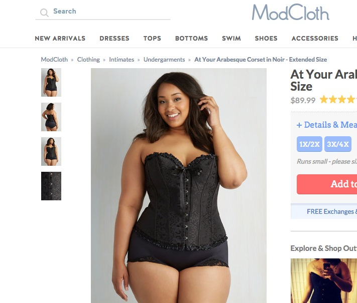 modcloth corset